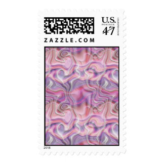 Abstract Pink and Purple Postage