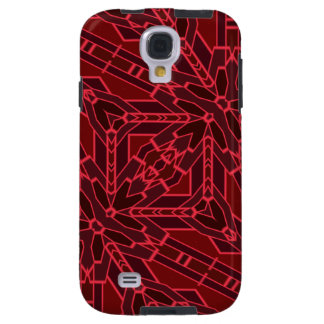 Abstract Pink and Red Floral Block Geometric Art Galaxy S4 Case