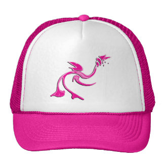 Abstract Pink Bird Hat