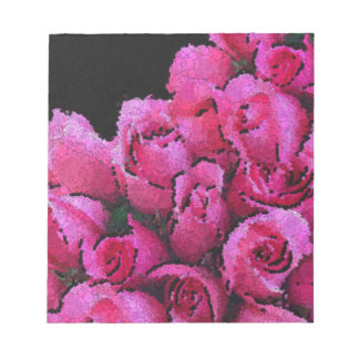Abstract Pink Black Roses Note Pad