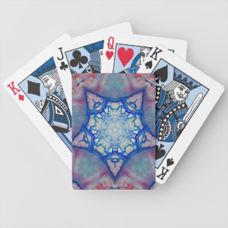 ABSTRACT PINK BLUE  FUCHSIA STAR BICYCLE PLAYING CARDS