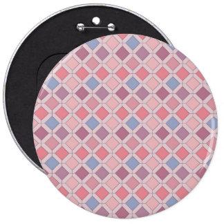 Abstract pink blue purple argyle pattern 6 inch round button