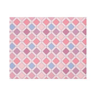 Abstract pink blue purple argyle pattern canvas print