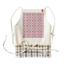 Abstract pink blue purple argyle pattern zazzle HEART apron
