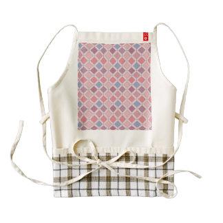 Abstract pink blue purple argyle pattern zazzle HEART apron