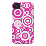 Abstract Pink Circles iPhone 4 Cases