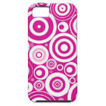 Abstract Pink Circles iPhone 5 Case