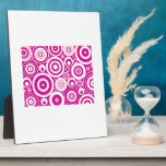 Abstract Pink Circles Photo Plaques