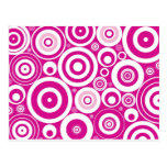 Abstract Pink Circles Postcard