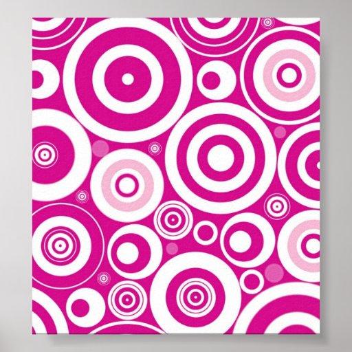 Abstract Pink Circles Poster