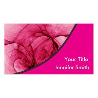 Abstract Pink Design Business Card