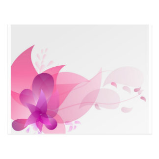 Abstract Pink Floral Background Postcard