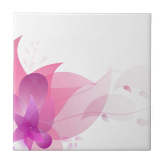 Abstract Pink Floral Background Small Square Tile