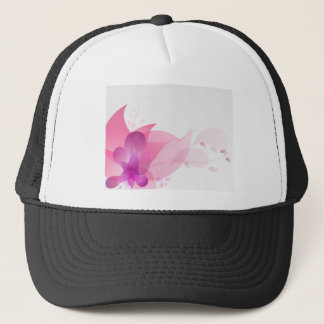 Abstract Pink Floral Background Trucker Hat