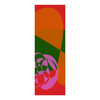 Abstract Pink Flower 2 Posters