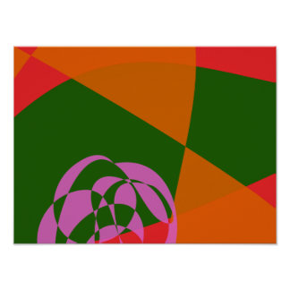 Abstract Pink Flower 2 Print