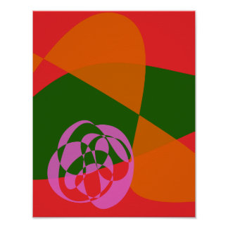 Abstract Pink Flower 2 Poster