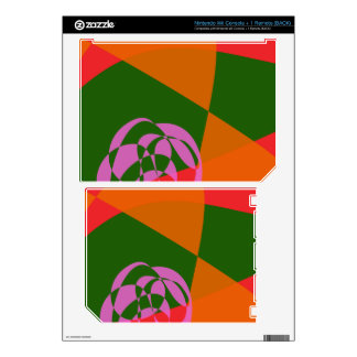 Abstract Pink Flower 2 Wii Decals