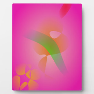 Abstract Pink Flower Photo Plaques