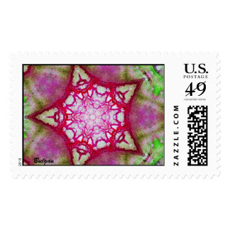 ABSTRACT PINK FUCHSIA STAR POSTAGE