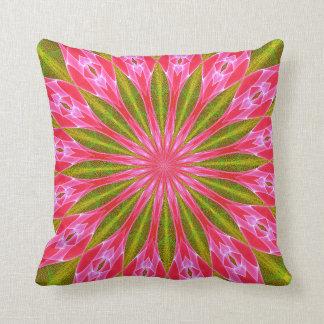 Abstract pink gem star pillow