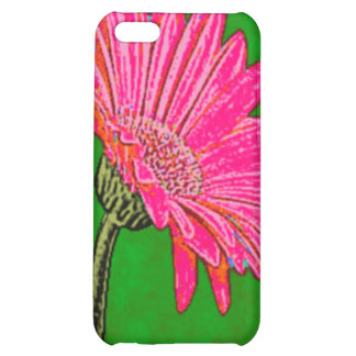 Abstract Pink Gerbera Daisy Case For iPhone 5C