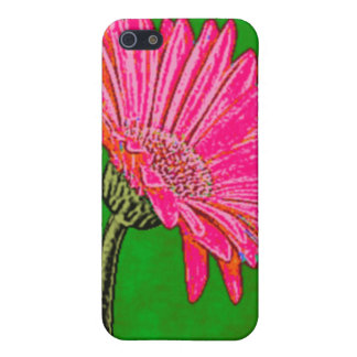 Abstract Pink Gerbera Daisy iPhone 5 Cover