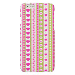 Abstract Pink green pattern + dots flowers hearts Matte iPhone 6 Case