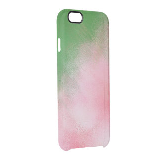 ABSTRACT/PINK/GREEN/WHITE/DIG.MANIP./PHOTOG. CLEAR iPhone 6/6S CASE