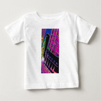 Abstract Pink Guitar Technicolor by Kara Willis Baby T-Shirt