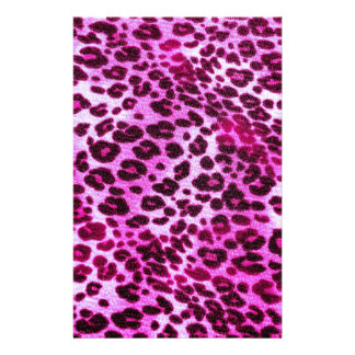 Abstract Pink Hipster Cheetah Animal Print Stationery