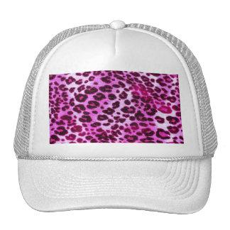 Abstract Pink Hipster Cheetah Animal Print Trucker Hat