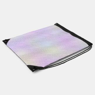 Abstract Pink Ikat Chevron Zigzag Cinch Bag