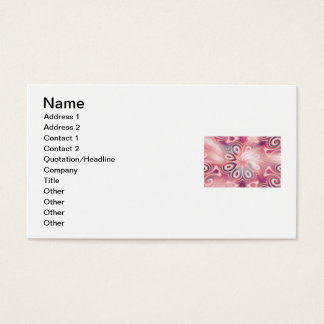 Abstract Pink Kaleidoscope with Swirls Business Card