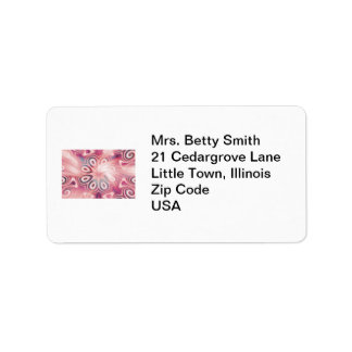 Abstract Pink Kaleidoscope with Swirls Label