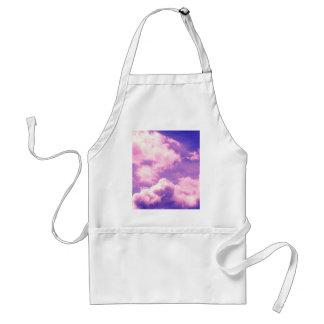 Abstract Pink Nebula Clouds Pattern Adult Apron