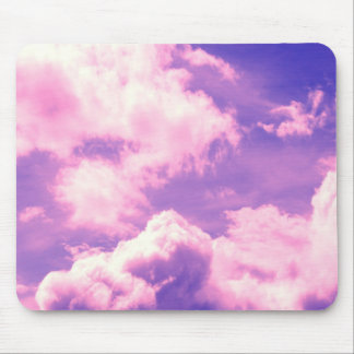 Abstract Pink Nebula Clouds Pattern Mouse Pad