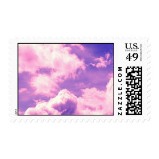Abstract Pink Nebula Clouds Pattern Stamps