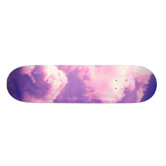 Abstract Pink Nebula Clouds Pattern Skate Deck