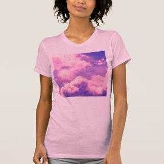 Abstract Pink Nebula Clouds Pattern T-Shirt