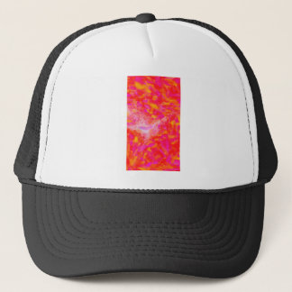 Abstract Pink Nebulla with Galactic Cosmic Cloud 3 Trucker Hat