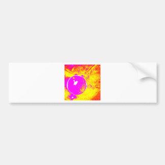 Abstract Pink Orange Purple Bumper Sticker