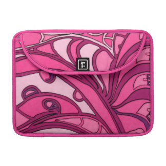 Abstract Pink Panel Painting Sleeve For MacBook Pro