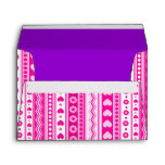 Abstract Pink pattern + dots flowers hearts Envelope