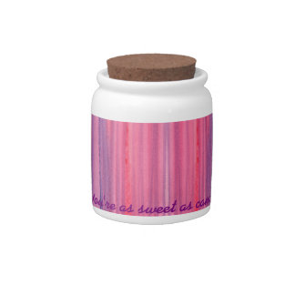 Abstract Pink Purple Watercolor Candy Jar