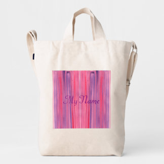Abstract Pink Purple Watercolor Duck Bag