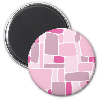 Abstract Pink Squares Magnet