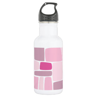 Abstract Pink Squares Water Bottle