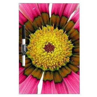 Abstract Pink Sunflower Dry-Erase Whiteboard