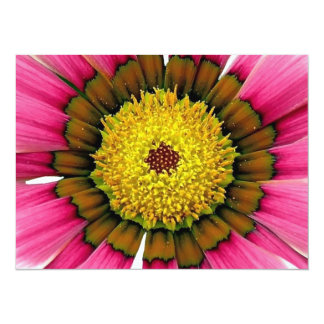 Abstract Pink Sunflower 5.5x7.5 Paper Invitation Card